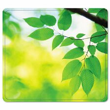 Recycled Mouse Pad, Nonskid Base, Leaves