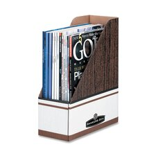 "Magazine File Holder, 4""x9""x11-1/2"", 6 per Pack, Woodgrain"