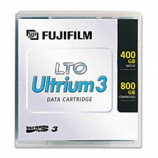 "1/2"" LTO-3 Data Cartridge, 2200ft, 400GB Native/800GB Compressed Data Capacity"