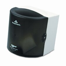 Sofpull Center Pull Hand Towel Dispenser, 10-7/8w x 10-3/8d x 11-1/2h, Smoke