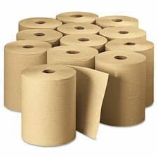 "Envision Hardwound Roll Paper Towel, 7.87"" x 625', Brown, 12 Rolls per CT"