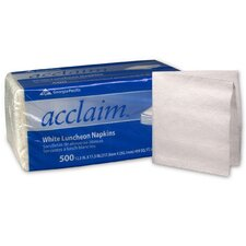 (500 per Carton) Acclaim Luncheon 1-Ply in White Napkins