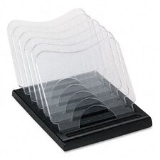 Document Browser, Five Sections, Plastic, 8 1/8w x 11 5/8d x 6 3/8h, Black