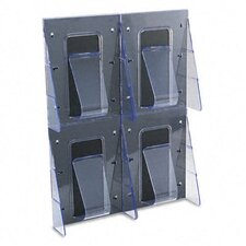 Multi-Pocket Wall-Mount Literature Systems, 18-1/4W X 2-7/8D X 23-1/2H