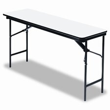 "Premium Wood Laminate 18"" x 72"" Folding Table"
