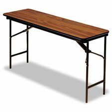 Premium Wood Laminate Folding Table, Rectangular, 60W X 18D X 29H
