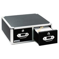 Vaultz Vaultz Locking Two-Drawer Index Card Box