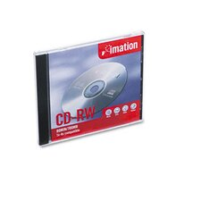 CD-RW Disc, 700MB/80min, 4x, with Slim Jewel Case, Silver