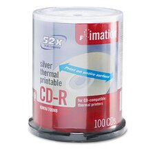 CD-R Disc, 700Mb/80Min, 52X, Spindle, 100/Pack