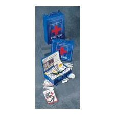 "First Aid Kit For 50 People - 10 1/2"" x 10 1/2"" x 2 3/8""(Blue)"