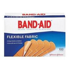 "X 3"" Band-Aid® Brand Flexible Fabric Woven Bandage (100 Per Box)"