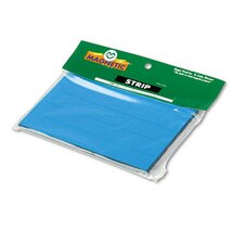 Magnetic Write-On/Wipe-Off Pre-Cut Strips, 6 x 7/8, Blue, 25 per Pack
