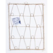 Antique Wire Memory Board in Pink
