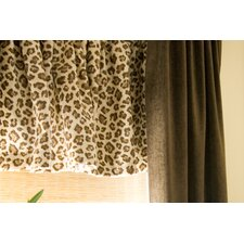 Tanzania Velvet Rod Pocket Tailored Curtain Valance