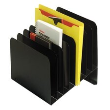 "Slanted Vertical Orgnzr,8 Compartments,11""x10""x10"",BK"