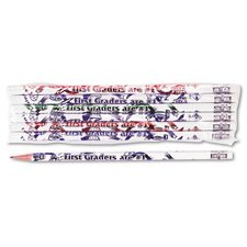 Decorated Wood Pencil, First Graders Are #1, #2, 12/Pack