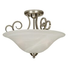 Premium Builder 3 Light Semi Flush Mount