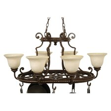 Riata 8 Light Hanging Pot Rack