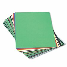 Peacock Sulphite Construction Paper, Rigid, 24 x 36, 10 Colors, 50 Sheets