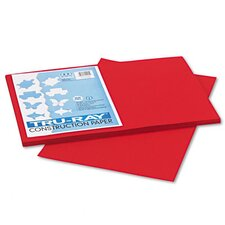 Tru-Ray Construction Paper, Sulphite, 12 x 18, Holiday Red, 50 Sheets