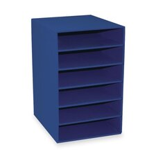 "6-Shelf Organizer, 13-1/2""x12""x17-3/4"", Blue"