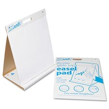 Gowrite Dry Erase Table Top Easel Pad, 4 10-Sheet Pads/Carton
