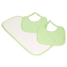 Tadpoles Classics Three Piece Bib & Burp Cloth Gift Set in Green