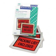 Full-Print Self-Adhesive Packing List Envelope, 100/Box
