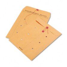 Light Brown Kraft String & Button Interoffice Envelope, 10 x 13, 100/carton