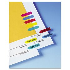 """Sign Here"" Mini Arrow Page Flag, 126 Flags/Pack"