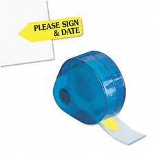 """Please Sign & Date"" Arrow Page Flag in Dispenser, 120 Flags/Dispenser"