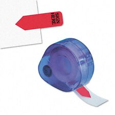 """Sign Here"" Printed Message Arrow Flag Refill, 6 Rolls of 120 Flags/Box"