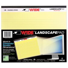 40 Sheet College Ruled Landscape Wide Pad