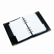 Small Business Card Binder with Tabs Holds 120 2-1/4 x 4 Cards, Black