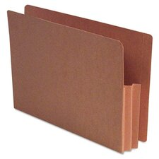 Expanding File Pockets, Straight Cut, Redrope, Legal, 10/Box