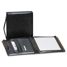 Leather Zippered Portfolio