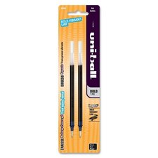 Uniball Gel Impact Refill, Bold Point, 2 per Pack, Black Ink