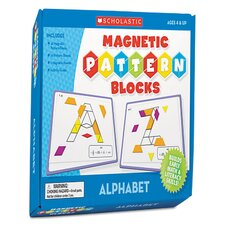 Magnetic Pattern Alphabet Blocks