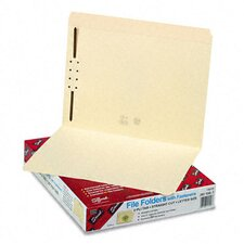 One Fastener Straight Cut Top Tab Folders, Letter, 50/Box