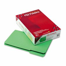 1/3 Cut File Folders, Reinforced Top Tab, Legal, 100/Box