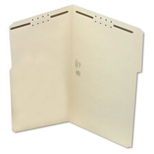 Two Fasteners 1/3 Cut Assorted Top Tab Folder, 50/Box
