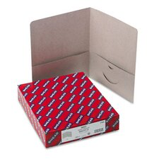 Two-Pocket Portfolio, Embossed Leather Grain Heavy Paper, 25/Box