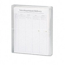 Poly String & Button Booklet Envelope, 11 5/8 X 9 3/4 X 1 1/4, 5/Pack
