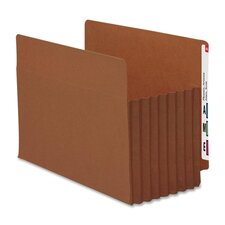 "7"" Accordion Expansion File Tuff Pockets, 5/Box"