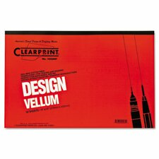 Clearprint Design Vellum Paper, 50 Sheets/Pad
