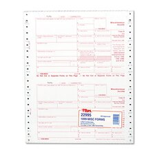 IRS Approved 1099 Tax Form Five-Part Carbonless, 24 Forms