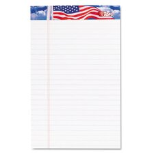 American Pride Writing Pad, Jr. Legal Rule, 12 50-Sheet Pads/Pack