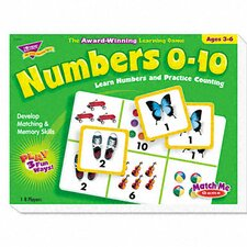 Numbers 0-10 Match Me Puzzle Game