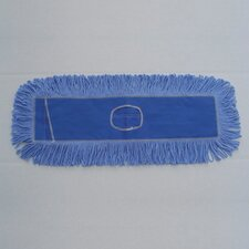 "36"" x 5"" Looped-End Dust Mop Head in Blue"