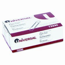 Nonskid Paper Clips, Wire, No. 1, Silver, 100/Box